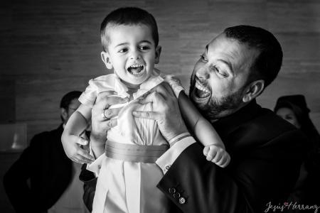 Hermano y sobrino antes de la boda