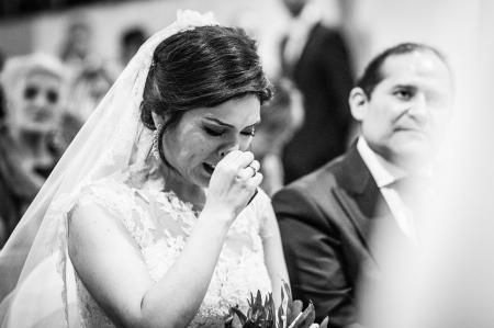 Momentos emotivos de la novia