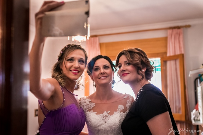 Selfie con la novia