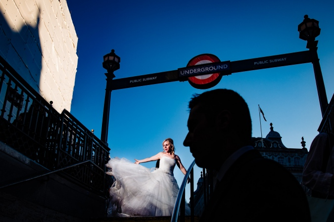 Picadilly Circus Trash the Dress