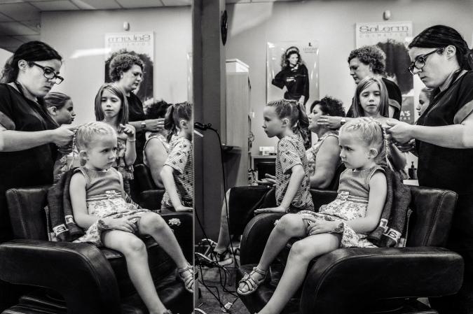 La novia en la peluqueria