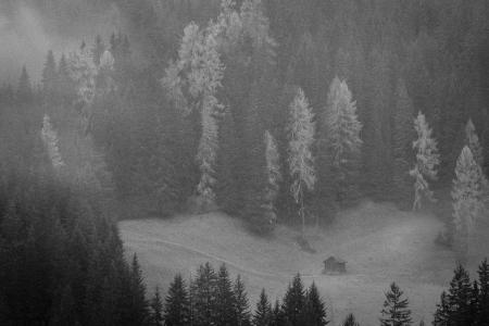 Otoño en Dolomitas, Italia