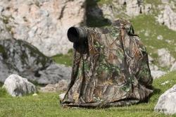 Photographing alpine birds. Picos de Europa, Spain