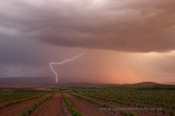 Storm over Ausejo, La Rioja (Spain)