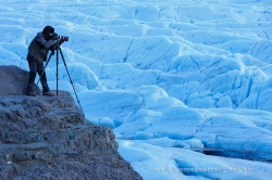 Photographing a glacier. Iceland