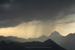 Storm over Tena Valley, Pyrenees (Spain)