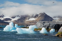 Isla de Blomstrandhalvoya, Kongsfjorden, Svalbard