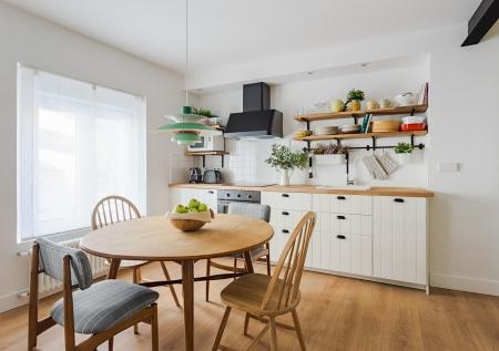 apartamento turístico, fotografía de interiorismo, cocina