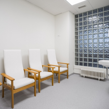 hospital, sala de lactancia, desarrola constructora, fotografía de interiores