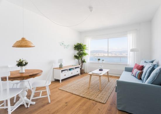 apartamento turistico, fotografía de interiores, salón, ventana