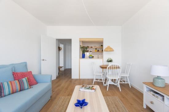 apartamento turistico, fotografía de interiores, salón