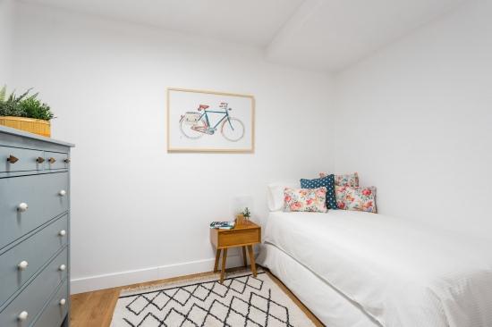 apartamento turístico, fotografía de interiorismo, dormitorio