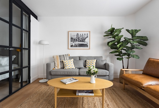 apartamento turístico, fotografía de interiorismo, salón