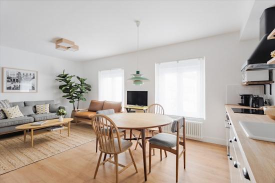 apartamento turístico, fotografía de interiorismo, salón, cocina