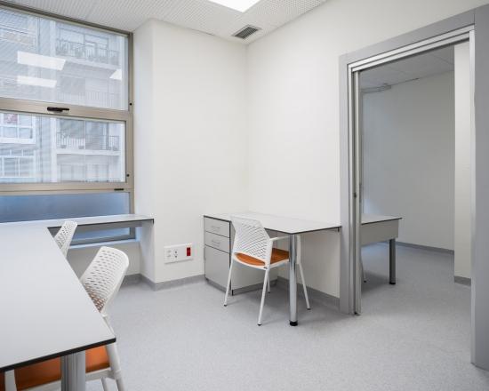 hospital, oficina, desarrola constructora, fotografía de interiores