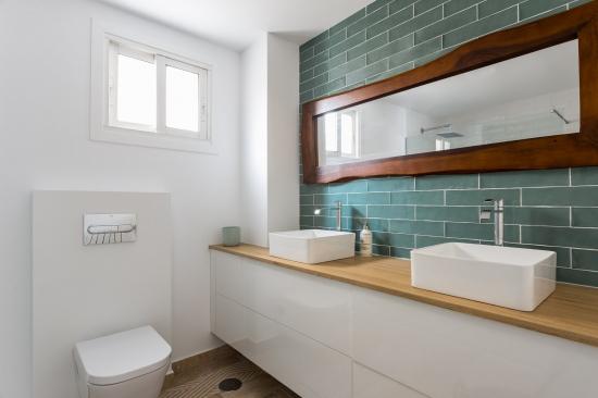 fotografía de interiores, decoración, alm construcciones, marina y javier, baño