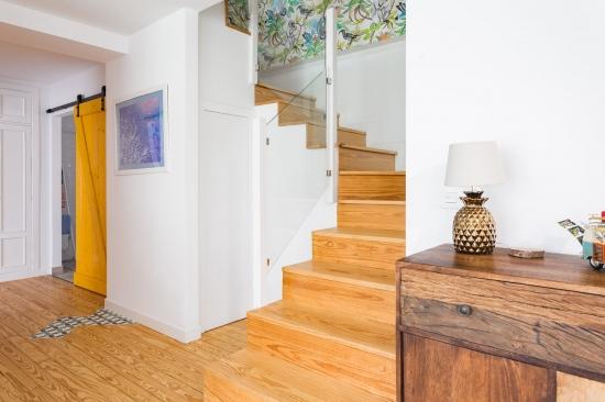 fotografía de interiores, decoración, alm construcciones, marina y javier, escalera