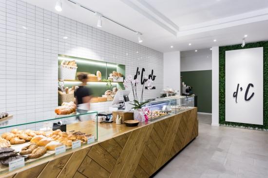 fotografia de interiores, pastelería, mostrador, d'carlo, porriño, encaixe arquitectura