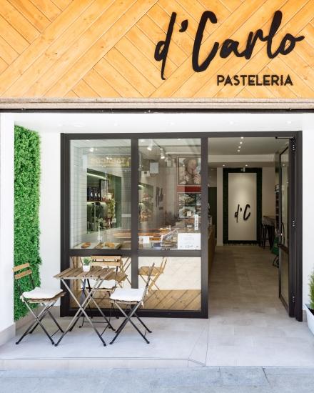 fotografia de interiores, pastelería, fachada, d'carlo, porriño, encaixe arquitectura