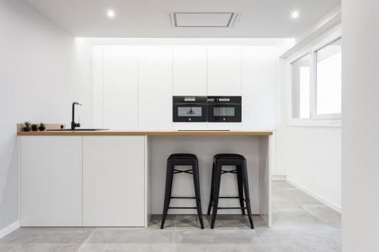 fotografia de interiores, reforma, cocina, encaixe arquitectura