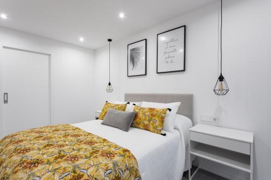 fotografia de interiores, reforma, dormitorio, encaixe arquitectura