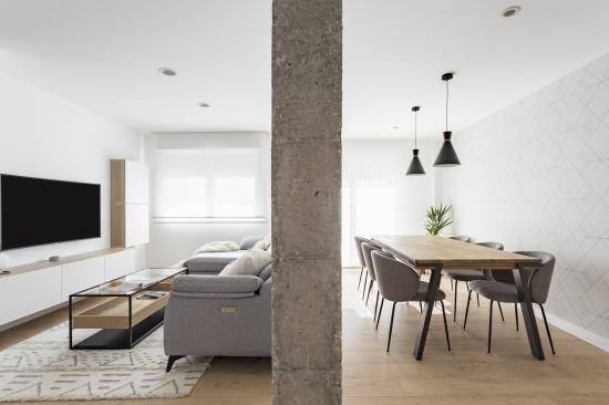 salon-comedor, nórdico, espacio concept, jose chas fotografia, interiorismo