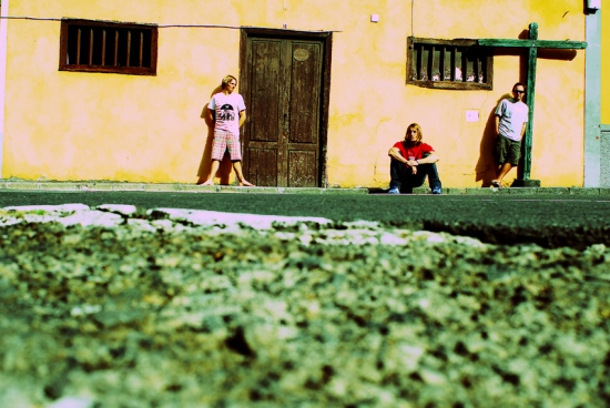 Hugues, Jean y Nicolas. Garachico. Tenerife