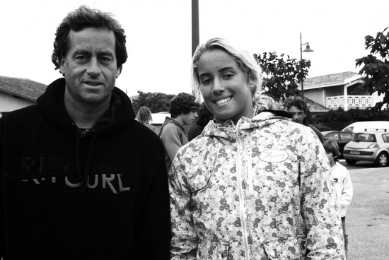 Tom Curren y Lee-Ann Curren. Hossegor. Francia