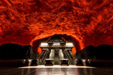 Solna. Stockholm T-Bana.