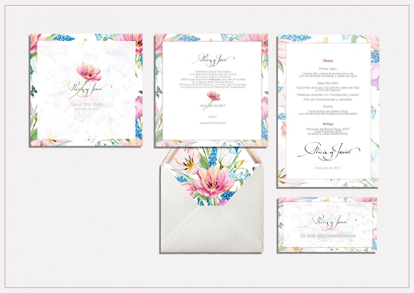 set boda - Alicia y Javier - Goyo Valmorisco, Calígrafo profesional. Profesor de caligrafía. Diseño caligráfico.