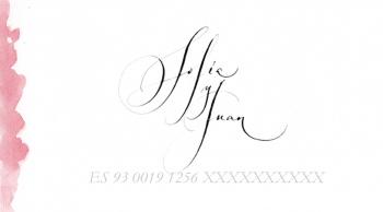 tarjeta lista de boda