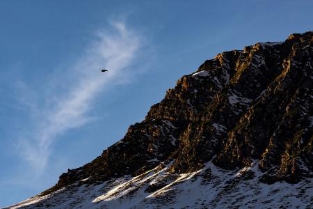 Luchando contra el viento, Pirineos.
