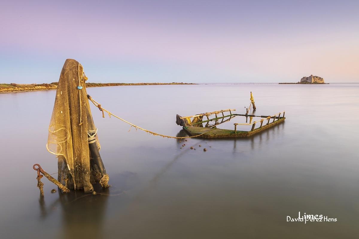 Atardecer, Delta del Ebro - Paisajes deltaicos y humedales.  - Limes , David Pérez Hens