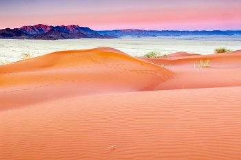 Atardecer en el desierto del Namib