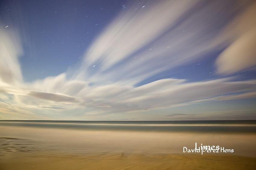 Fotografía Nocturna, playa Larga Tarragona - Paisajes deltaicos y humedales.  - Limes , David Pérez Hens