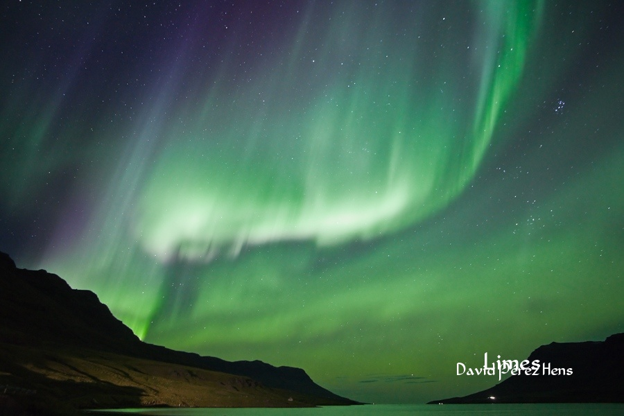Aurora Boreal, septiembre2016.Imagen David Pérez Hens - Islandia. - Limes , David Pérez Hens