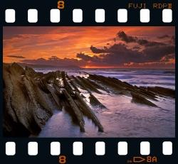 Sunset in Algorri - Zumaia.