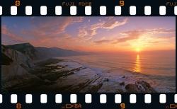 Puesta de sol en Algorri - Zumaia.