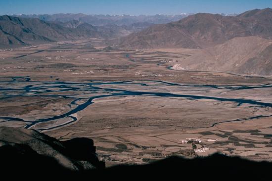 Vista del Tibet desde el Monasterio Gandem