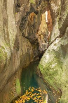 Garganta del torrent del Gorg Blau, 'Sa Fosca'. Sierra de Tramuntana, Mallorca
