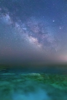 Ses Salines shore under the milky way, Majorca