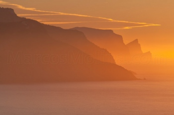Sunset, Banyalbufar area, Northern coast, Majorca