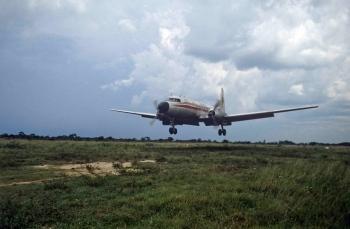 Aterrizaje en Estancia Palmira