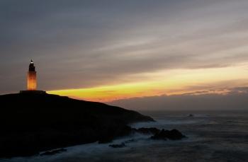 Sunset at the Lighthouse | 2007 | Hércules Lighthouse - A Coruña, Spain
