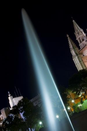 Illuminated fountain | 2009 | Cathedral of Palma - Palma de Mallorca, Spain