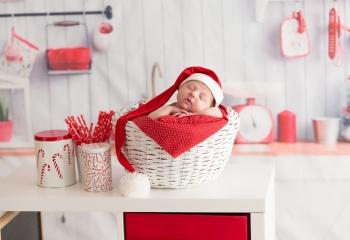 recien nacido navidad blanco y rojo