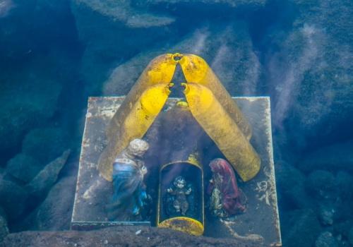 Buceo bajo hielo Panticosa, pesebre