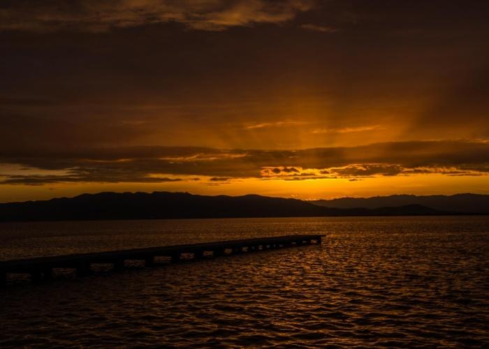 puesta de sol punta la banya