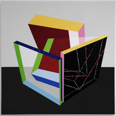 Balance exercise in a room / 2014 / Acrylic on canvas  / 100x100 cm