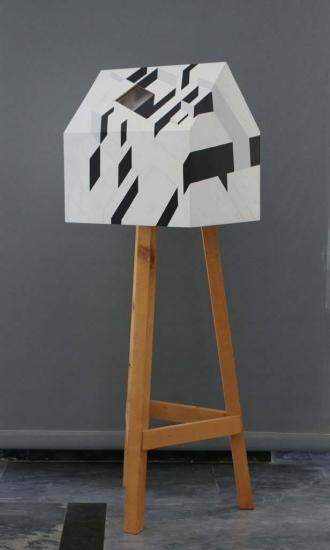 Transportable residence / 2006 /  Wood, plexiglas, synthetic paint / 110x50x50 cm